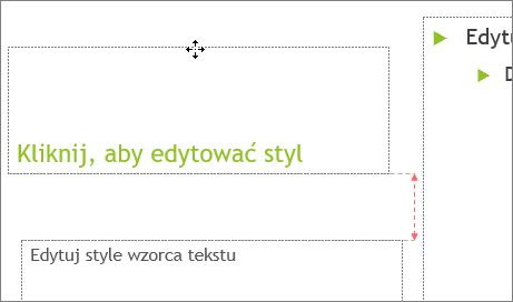 Przenoszenie symbolu zastępczego na slajdzie