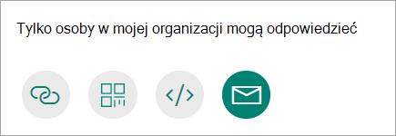 Udostępnianie formularza pocztą e-mail