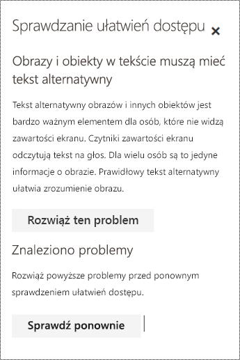 Wyszukiwanie w wiadomości e-mail problemów dotyczących ułatwień dostępu w aplikacji Outlook w sieci Web.
