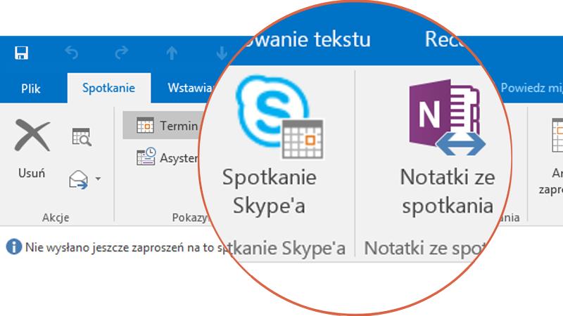 Współpraca za pomocą programów Skype i OneNote