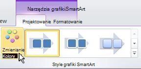Zmienianie koloru grafiki SmartArt.