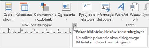 Bloki konstrukcyjne w programie Publisher