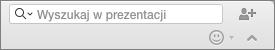 Pole wyszukiwania w prezentacji