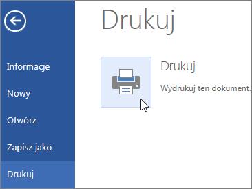 Obraz przycisku Drukuj w formacie PDF w aplikacji Word Online