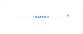 Przykład podziału strony