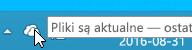 Zrzut ekranu przedstawiający białą ikonę usługi OneDrive w systemie Windows 8.1.