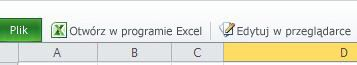 Przycisk Edytuj w przeglądarce