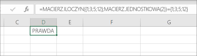 Przykład funkcji macierz