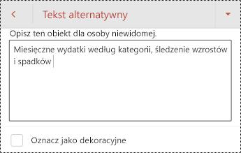 Tekst alternatywny dla tabeli w programie PowerPoint dla systemu Android.