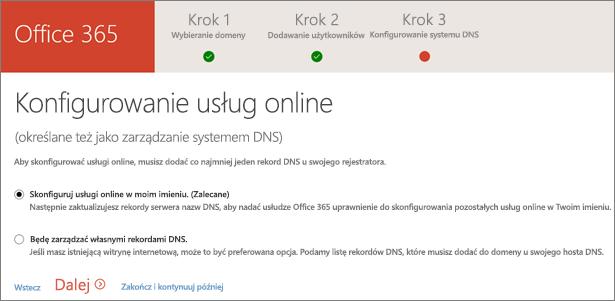 Konfigurowanie usług online