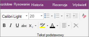 Kliknij kartę Narzędzia główne, a następnie kliknij pozycję Wyczyść całe formatowanie.