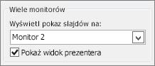 Opcje monitora w programie PowerPoint 2010