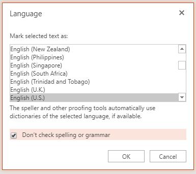 Ustawienia języka