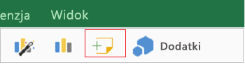 Dodawanie komentarza w programie Excel dla tabletu iPad