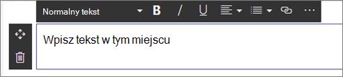 Tekst składnika web part