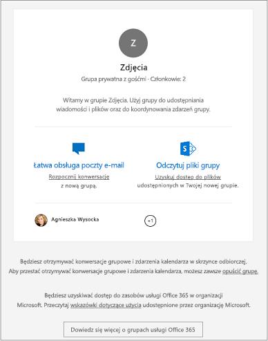Goście otrzymują powitalną wiadomość e-mail.