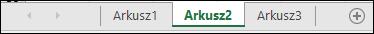 Karty arkuszy w dolnej części okna programu Excel