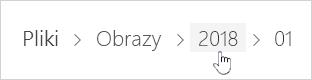 Wybieranie folderu usługi OneDrive