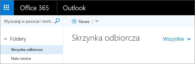 Obraz przedstawiający wygląd wstążki aplikacji Outlook w sieci Web.