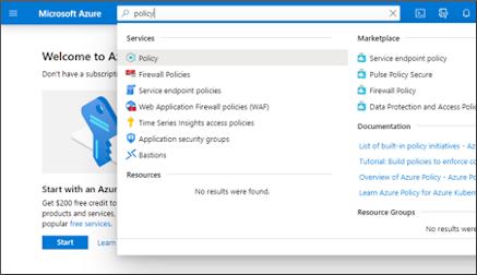 Zrzut ekranu przedstawiający wyszukiwanie zasad