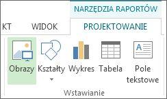 Karta Narzędzia raportów > Projektowanie