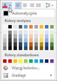 Paleta Kolor czcionki
