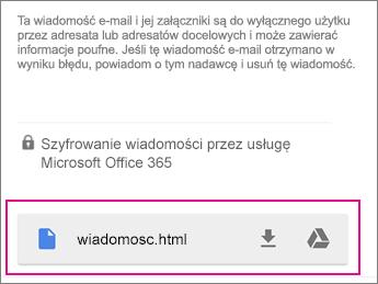 Przeglądarka OME z usługą Gmail Android 1