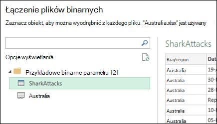 Łączenie plików binarnych okno dialogowe Wyświetlanie dostępne arkusze programu Excel zaznacz docelowy podstawowego konsolidacji