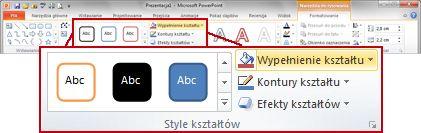 Karta Formatowanie na wstążce programu PowerPoint 2010