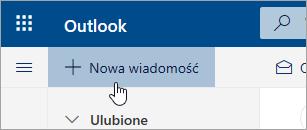 Zrzut ekranu przedstawiający przycisk Nowa wiadomość