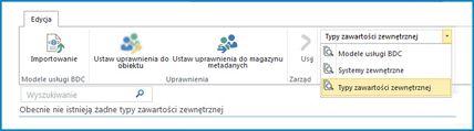 Zrzut ekranu przedstawiający wybór widoków dla widoków wykazu danych usług łączności biznesowej.