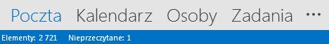 Karta Kontakty znajduje się u dołu ekranu programu Outlook.