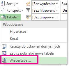 Obraz przycisku Więcej tabel