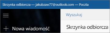 Tak wygląda wstążka aplikacji Poczta dla systemu Windows 10.