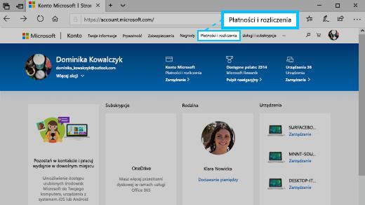 Zmiana Imienia I Nazwiska Oraz Adresu Skojarzonych Z Kontem Microsoft