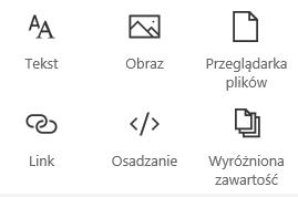 Zrzut ekranu przedstawiający menu składnika Web Part w programie SharePoint.