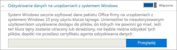 Przejdź do certyfikatu agenta odzyskiwania danych.