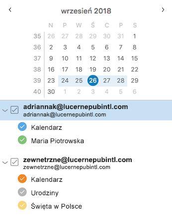 Ulepszony pasek boczny kalendarza