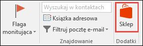 Przycisk Sklep w programie Outlook