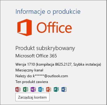 Regularna kompilacja pakietu Office 365