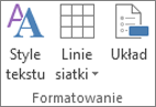 Przycisk Style tekstu
