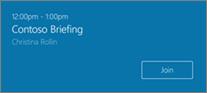 Dołączanie do zaplanowanego spotkania