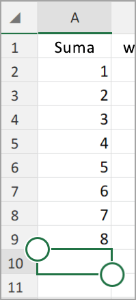 Tablet z systemem android Autosumowanie programu Excel