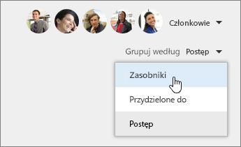 Grupowanie według zasobników