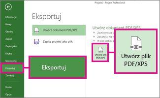 Obraz przycisku Utwórz plik PDF/XPS