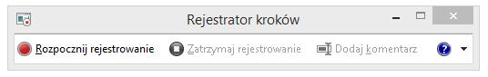 Zrzut ekranu: Rejestrator problemów lub program PSR.exe.