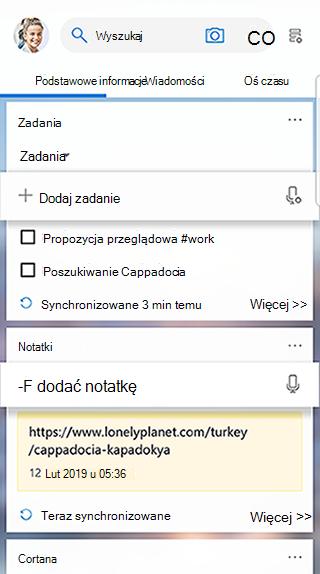 Zrzut ekranu przedstawiający kartę zadania w kanale uruchamiania