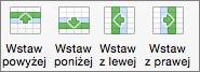 Układ tabeli w pakiecie Office dla komputerów Mac