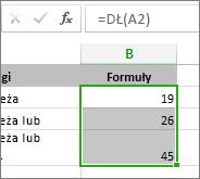 Przykład funkcji LEN