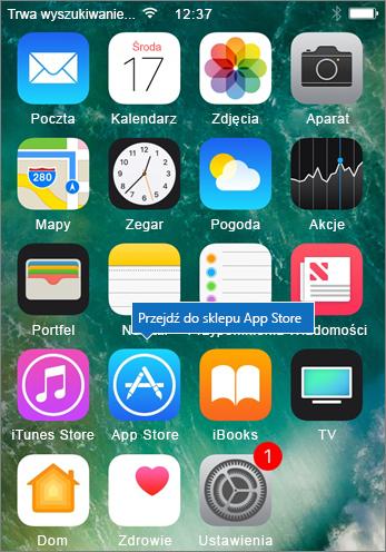 Przejdź do sklepu App Store telefonu iPhone